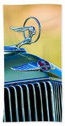 1933 Pontiac Hood Ornament - Emblem Beach Towel