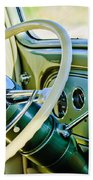 1933 Pontiac Steering Wheel -0463c Beach Towel