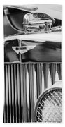 1934 Aston Martin Mark II Short Chassis 2-4 Seater Grille Emblem Beach Towel