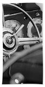 1936 Mercedes-benz 540 Special Roadster Steering Wheel Beach Towel