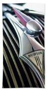1937 Hudson Terraplane Sedan Hood Ornament Beach Towel