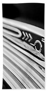 1937 Pontiac Chief Custom Hood Ornament Beach Towel