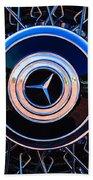 1939 Mercedes-benz 540k Special Roadster Wheel Rim Emblem Beach Towel