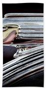 1939 Pontiac Silver Streak Chief Hood Ornament Beach Towel