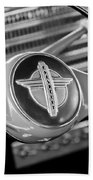 1941 Chevrolet Steering Wheel Emblem Beach Towel