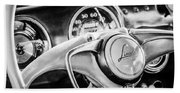 1941 Lincoln Continental Coupe Steering Wheel Emblem -0858c Beach Towel