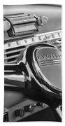 1950 Chevrolet 3100 Pickup Truck Steering Wheel Beach Towel