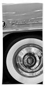1951 Mercury Montclair Convertible Wheel Emblem Beach Towel