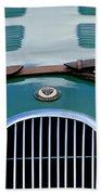 1952 Jaguar Xk 120 John May Speciale Grille Emblem Beach Towel