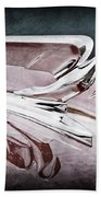 1952 Packard 400 Hood Ornament Beach Towel