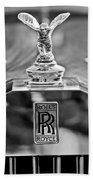1952 Rolls-royce Hood Ornament Beach Towel