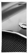 1953 Aston Martin Db2-4 Bertone Roadster Hood Emblem Beach Towel by Jill Reger