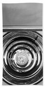 1954 Cadillac Coupe Deville Wheel Emblem Beach Towel