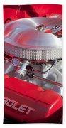 1955 Chevrolet 210 Engine Beach Towel