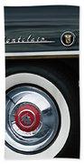 1955 Mercury Montclair Convertible Wheel Emblem Beach Towel