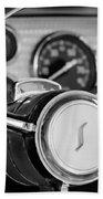 1955 Studebaker President Steering Wheel Emblem Beach Towel by Jill Reger