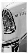 1956 Chevrolet Belair Taillight Emblem Beach Towel