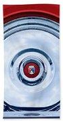 1956 Ford Thunderbird Spare Tire Emblem Beach Towel