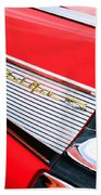 1957 Chevrolet Belair Convertible Taillight Emblem Beach Towel
