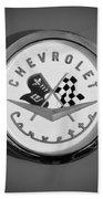 1957 Chevrolet Corvette Emblem Beach Towel