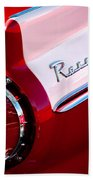 1957 Ford Custom 300 Series Ranchero Taillight Emblem Beach Towel