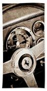 1960 Ferrari 250 Gt Cabriolet Pininfarina Series II Steering Wheel Emblem Beach Towel by Jill Reger