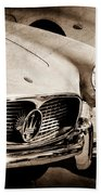 1960 Maserati Grille Emblem Beach Towel by Jill Reger