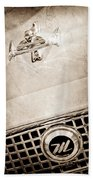 1960 Nash Metropolitan Hood Ornament - Grille Emblem Beach Towel