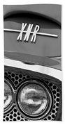 1960 Plymouth Xnr Ghia Roadster Grille Emblem Beach Towel by Jill Reger