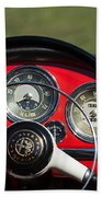 1961 Alfa-romeo Giulietta Spider Steering Wheel Emblem Beach Towel