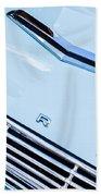 1963 Ford Falcon Futura Convertible Hood Emblem Beach Towel