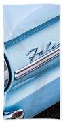 1963 Ford Falcon Futura Convertible Taillight Emblem Beach Towel by Jill Reger