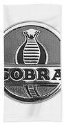 1963 Shelby 289 Cobra Emblem Beach Towel