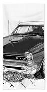 1965 Pontiac G T O Convertible Beach Towel