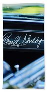 1965 Shelby Prototype Ford Mustang Carroll Shelby Signature Beach Towel
