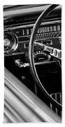 1965 Shelby Prototype Ford Mustang Steering Wheel Beach Towel