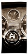 1966 Volkswagen Vw Karmann Ghia Steering Wheel Beach Towel