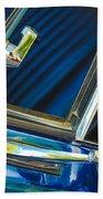 1967 Chevrolet Camaro Ss 350 Rear View Mirror Emblem Beach Towel