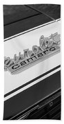 1967 Chevrolet Camaro Ss350 Convertible Emblem Beach Towel