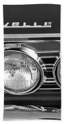 1967 Chevrolet Chevelle Super Sport Emblem Beach Towel