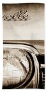 1968 Chevrolet Chevelle Hood Emblem Beach Towel