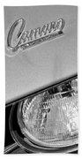 1969 Chevrolet Camaro Headlight Emblem Beach Towel