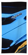 1971 Dodge 426 Hemi Challenger Rt Hood Emblem Beach Towel