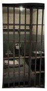A Cell In Alcatraz Prison Beach Towel by RicardMN Photography