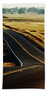 A Country Road In The Central Valley Beach Towel
