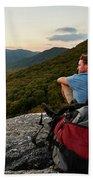 A Man Hikes Along The Appalachian Trail Beach Towel