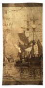 A Pirate Looks At Forty Beach Towel by John Stephens