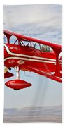 A Pitts Special S-2a Aerobatic Biplane Beach Towel