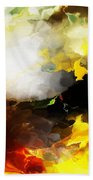 Abstract Under Glass Beach Towel