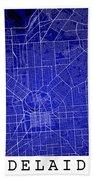 Adelaide Street Map - Adelaide Australia Road Map Art On Colored Beach Towel